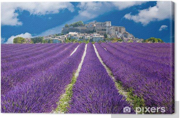 Quadro su Tela Lavande en Provence, villaggio provenzale en France - Temi