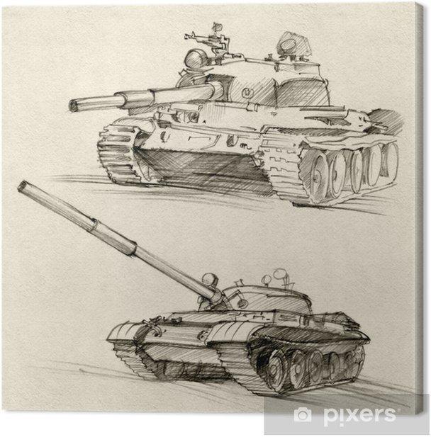 Quadro su Tela Le T-54 e T-55 carri armati - Temi