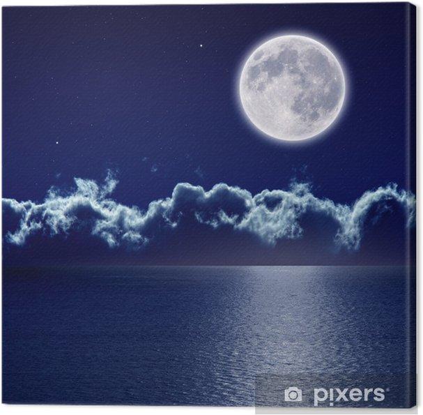 Quadro Su Tela Luna Piena Sul Mare Pixers Viviamo Per Il