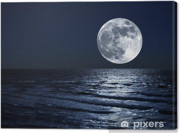 Quadro Su Tela Luna Sul Mare Pixers Viviamo Per Il Cambiamento