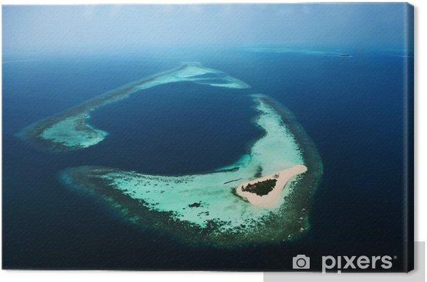 Quadro su Tela Maledives 3 aerea - Vacanze