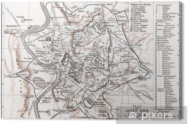 Cartina D Roma.Quadro Su Tela Mappa Di Roma Antica Pixers Viviamo Per Il Cambiamento