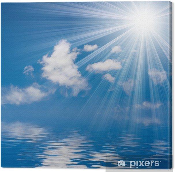 Quadro Su Tela Mare Blu E Sfondo Del Cielo Soleggiato Pixers