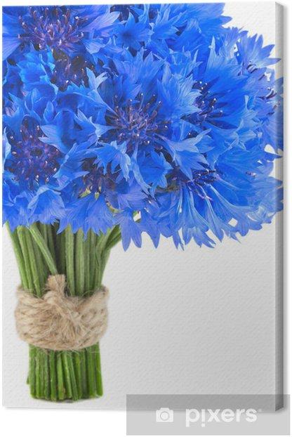Mazzo Di Fiori Blu.Quadro Su Tela Mazzo Di Bei Fiori Blu Vivaci Di Fiordaliso Isolato