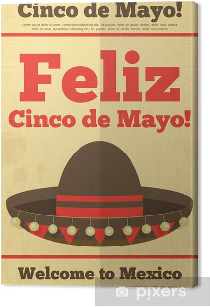 Quadro su Tela Mexican Hat • Pixers® - Viviamo per il cambiamento fd412fad8bfa