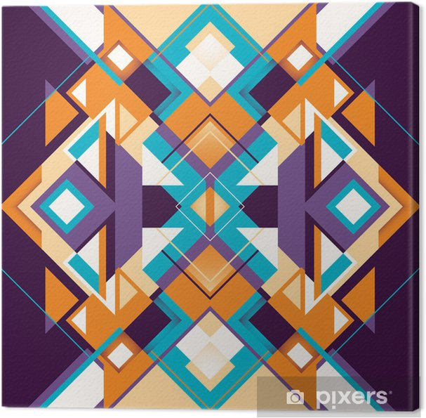 Quadro su Tela Moderni arabesco colorati. • Pixers® - Viviamo per il ...
