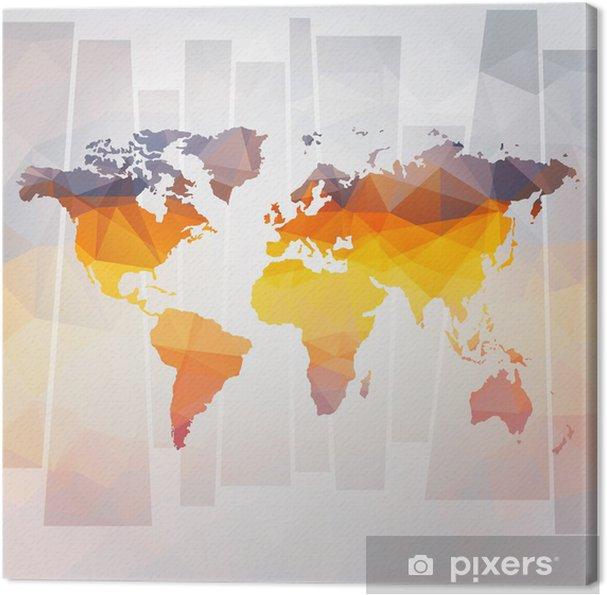 Quadro su Tela Moderno concetto di mappa del mondo vettoriale