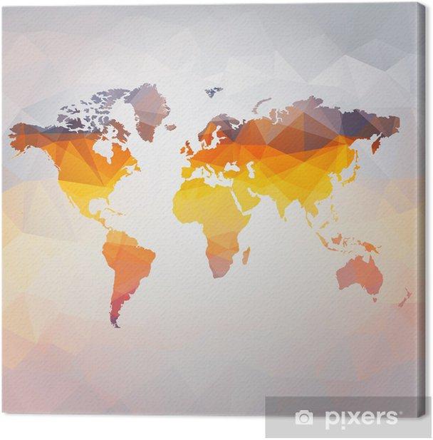 Quadro su Tela Moderno concetto di mappa del mondo vettoriale - Stili