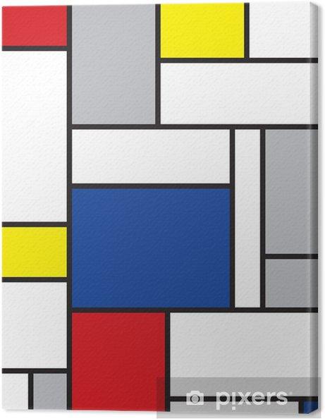 Quadro su Tela Mondrian arte contemporanea -