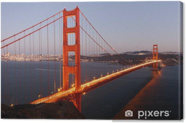 Quadro su Tela Mostra al Golden Gate Bridge di San Francisco / USA - Città Americane