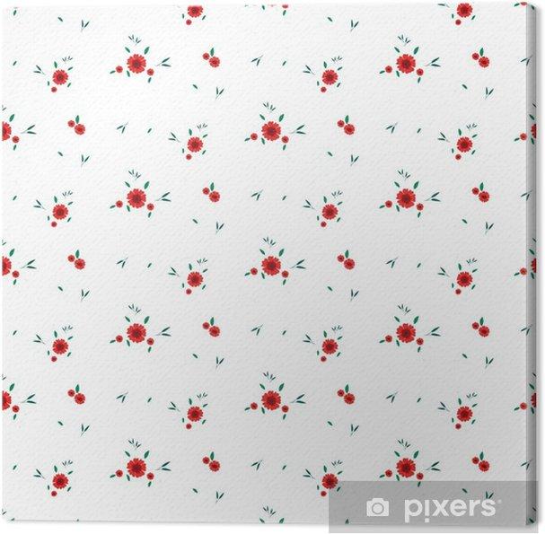 ed2560b60b Quadro su Tela Motivo floreale senza soluzione di continuità. sfondo in  piccoli fiori rossi su uno sfondo bianco per tessuti, tessuto, tessuto di  ...