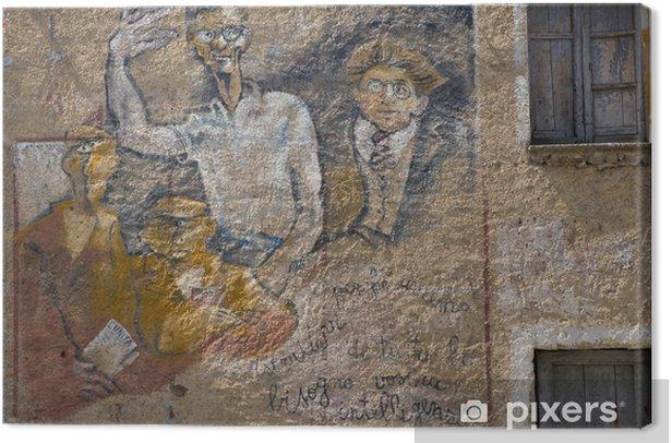 Quadro su Tela Murales Orgosolo Sardegna - Europa
