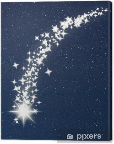 Stella Cadente Di Natale.Quadro Su Tela Natale Che Desiderano Stella Cadente Pixers Viviamo Per Il Cambiamento