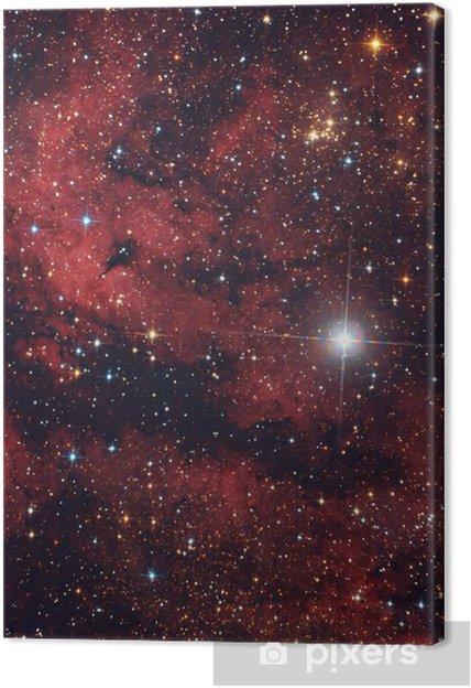 Cielo Rosso Di Notte.Quadro Su Tela Nebulosa Rossa Nel Cielo Di Notte Pixers Viviamo