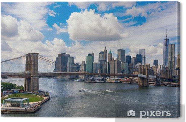 Quadro su Tela New York City nel bagliore del tramonto -