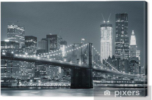 Cameretta A Ponte Auchan.Quadro Su Tela New York Ponte Di Brooklyn Pixers Viviamo Per