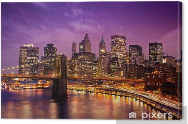 Quadro su Tela New York, Ponte di Manhattan da Brooklyn -