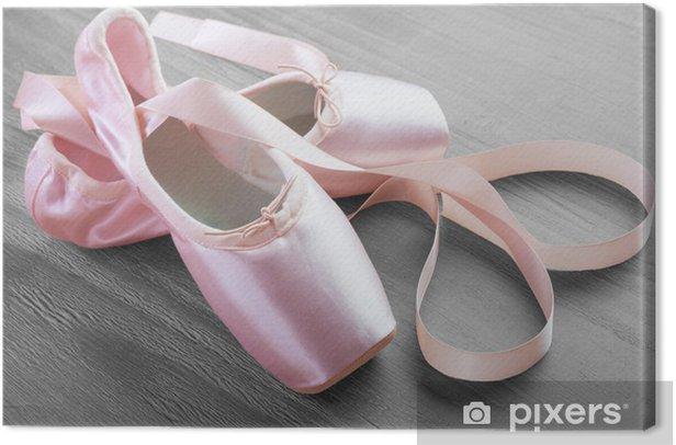 Quadro su Tela Nuova rosa balletto pointe scarpe - iStaging