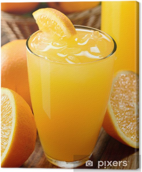 Quadro su tela orange juice u2022 pixers® viviamo per il cambiamento