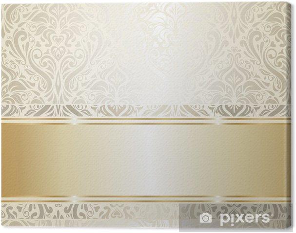 Quadro su Tela Oro e argento vintage wallpaper - Vita