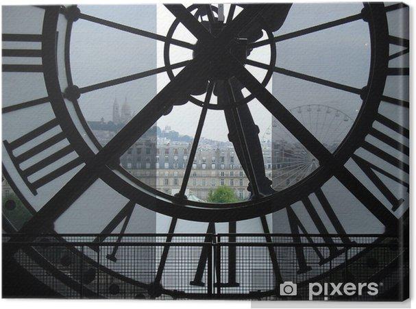Quadro su Tela Orologio nel Museo d'Orsay - Orologi