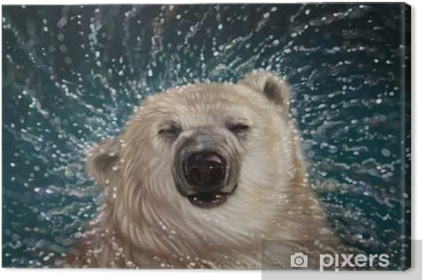 Quadro su Tela Orso polare - Animali