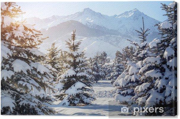 Quadro su Tela Paesaggio di montagna inverno - Temi
