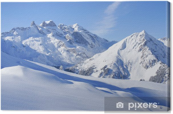 Quadro su Tela Paesaggio invernale nelle Alpi - Temi