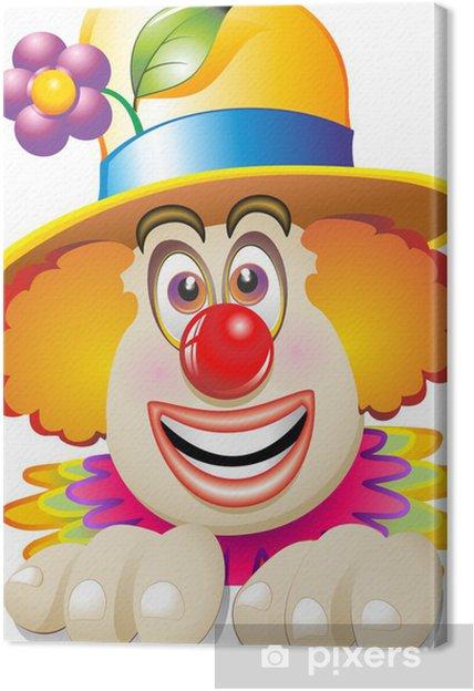 di prim'ordine primo sguardo più popolare Quadro su Tela Pagliaccio Faccia-Maschera-Carnival Clown's Face-Vector