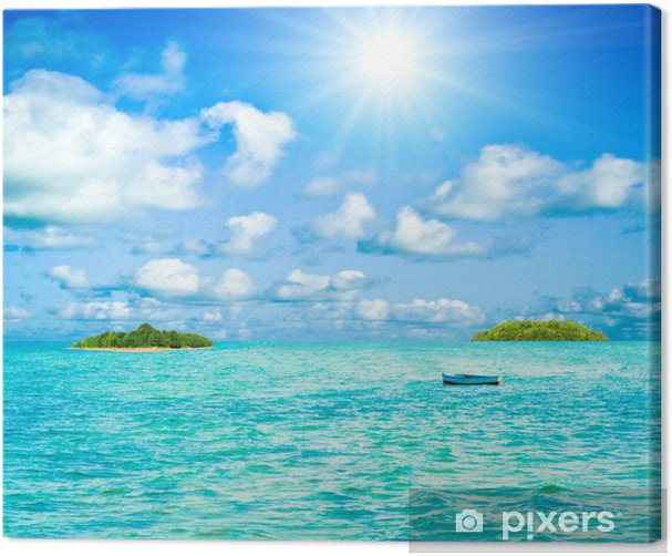 Quadro su Tela Panorama di mare - Acqua