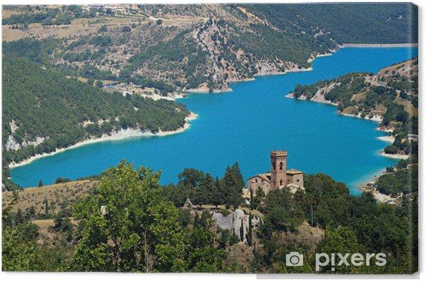 Quadro su tela parco nazionale dei monti sibillini il lago di