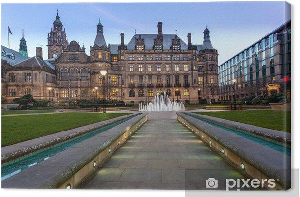 Quadro su Tela Percorso Sheffield Town Hall - Europa