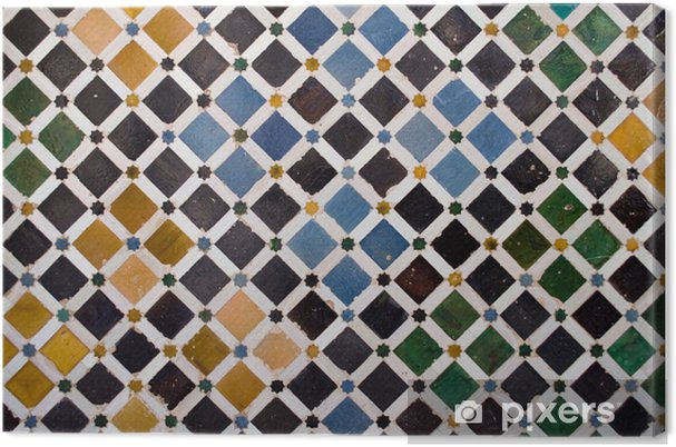 Quadro su tela piastrelle colorate dallo stile arabo nel alhambra