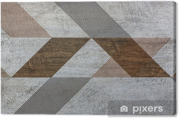 Quadro su tela piastrelle con forme geometriche u2022 pixers® viviamo