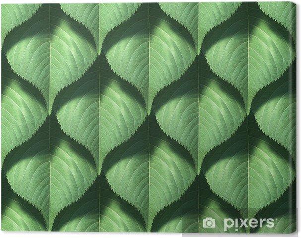 Quadro su tela piastrelle texture leaf u2022 pixers® viviamo per il