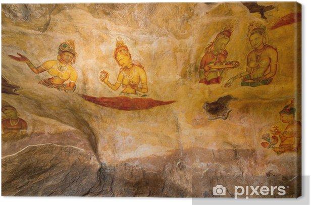 Quadro Su Tela Pitture Murali Antiche A Palazzo Di Sigiriya Lion Rock Pixers Viviamo Per Il Cambiamento