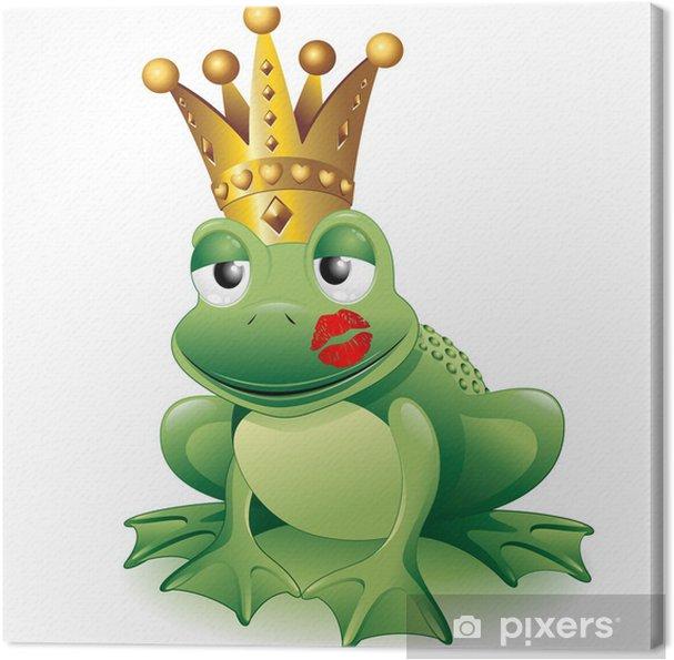 Quadro su tela principe frog cartoon art clip con kiss principe