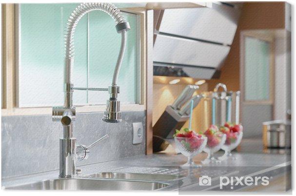 Quadro su Tela Professionista singolo rubinetto della leva nella cucina  moderna