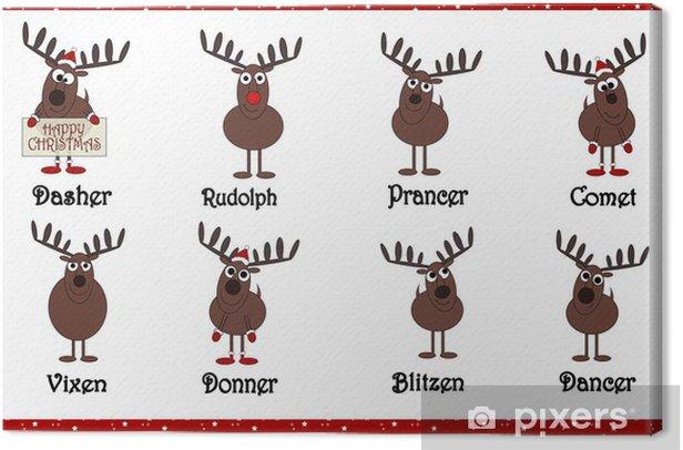 Renne Di Babbo Natale Nomi.Quadro Su Tela Renne Cartoon Babbo Natale Con I Nomi Pixers Viviamo Per Il Cambiamento