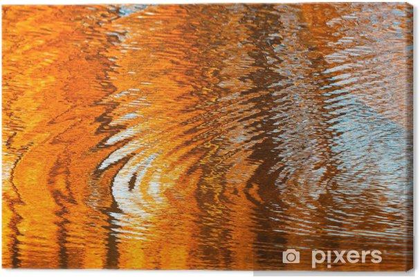 Quadro su tela riflessioni in acqua astratto autunno u2022 pixers