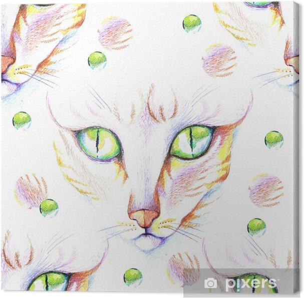 Quadro Su Tela Ritratto Di Un Gatto Un Disegno A Matita Pixers