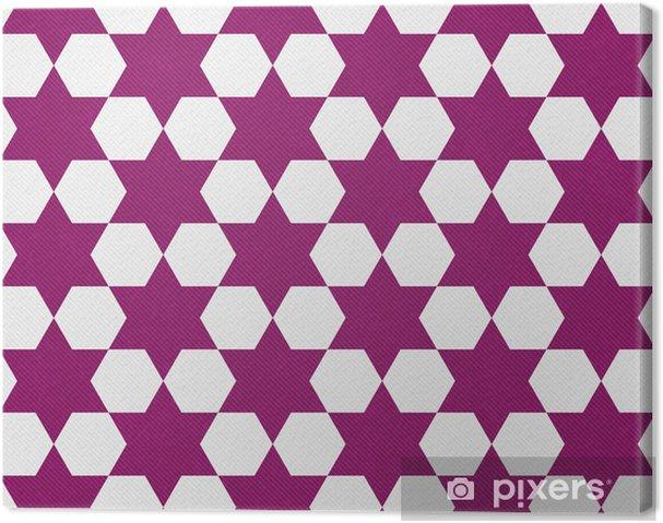 Quadro Su Tela Rosa Scuro E Lo Sfondo Bianco Hexagon Patterned