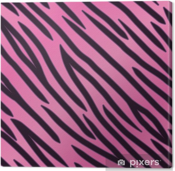 Quadro Su Tela Rosa Tiger Striped Sfondo