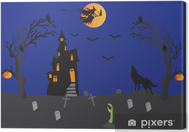 Quadro su Tela Scene di Halloween 197bacb94da7