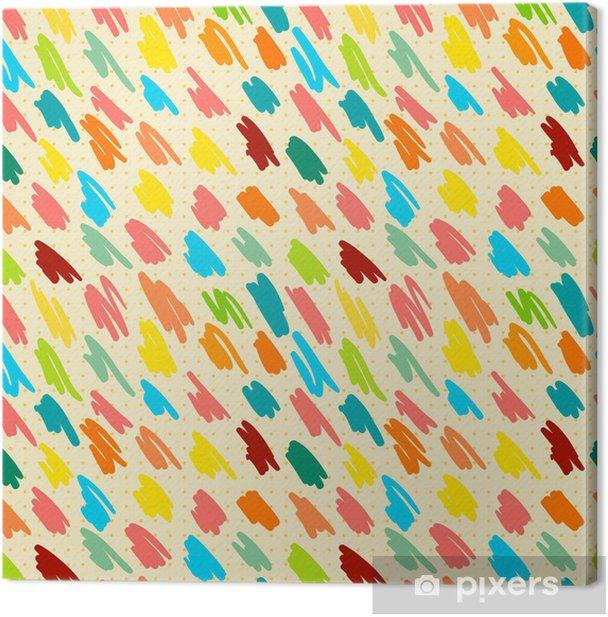 Quadro su Tela Seamless pattern con strisce di doodle. - Situazioni di lavoro