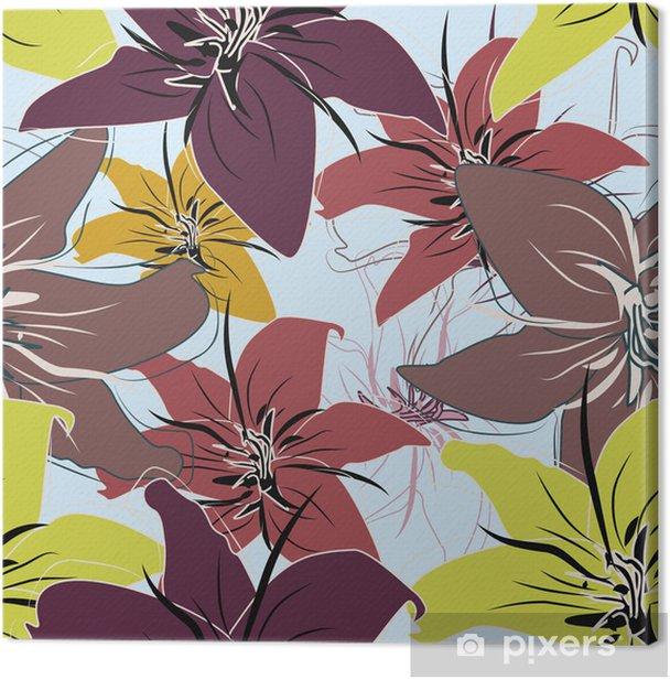 Quadro su Tela Seamless pattern floreale - Sfondi