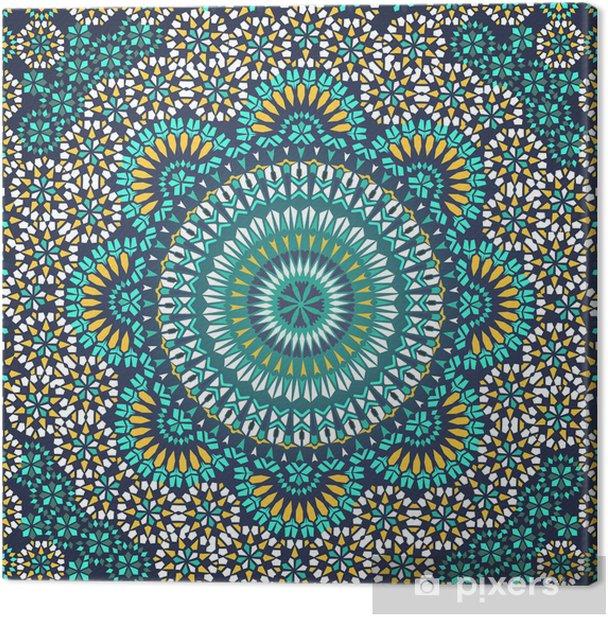 Quadro su Tela Seamless Pattern in Mosaico Stile Etnico. - Mosaico