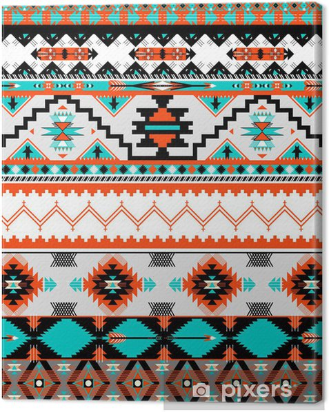 Quadro su Tela Seamless pattern Navaho - Stili