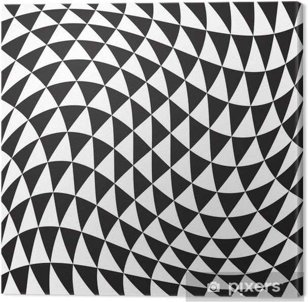 Quadro Su Tela Seamless Sfondo Bianco E Nero Geometrico Pixers