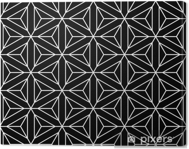 Quadro su tela seamless texture geometrica. esagoni diamanti